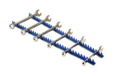 600mm Long - Blue Sharks Teeth Spanner Wrench Holds 35 Wrench in Holder Rack