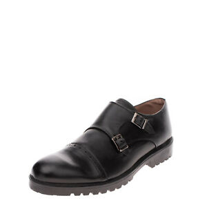Monk Strap Shoes Size 41 UK 7 US 8 Quarter Brogue Lug Sole Made in Italy