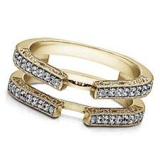 0,29 Ct Natural Diamond Vintage Enhancer Ring 14k Gelbgold