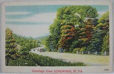 1930s Vintage Postcard Greetings From Kingwood, WV
