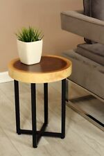 """18"""" Tall Wooden Side End Table Stool Night Display Wood Stand Accent Bar WST-IR2"""
