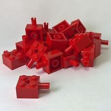 20 NEW LEGO Brick, Modified 2 x 2 with Pin and Axle Hole Red