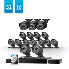 Zmodo 1.0 MP 32 CH Network NVR 16 HD Security Camera System w/ sPoE Repeater 2TB