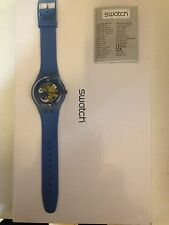 "OROLOGIO SWATCH ""NEW GENT"" -BLUE GRAY LACQUERED- REF. SUON102  -NUOVO"