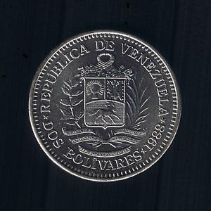 Venezuela - 2 Bolivares - 1988 - Y# 43