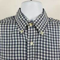 Bill Khakis Mens Blue Gingham Check L/S Dress Button Shirt Sz Medium M