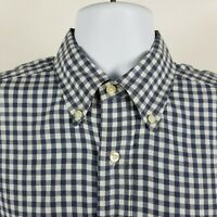 Bill Khakis Mens Blue Gingham Check L/S Dress Button Shirt Sz Medium M