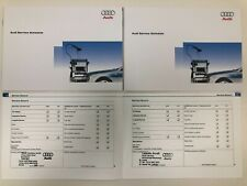 NEW AUDI SERVICE BOOK STAMPED, BRAND NEW & GENUINE, FOR ALL PETROL & DIESEL CARS