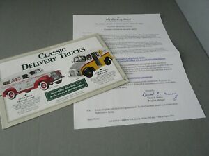 BROCHURE ONLY(NO CAR)-1/24-DANBURY MINT-CLASSIC DELIVERY TRUCKS-VARIOUS