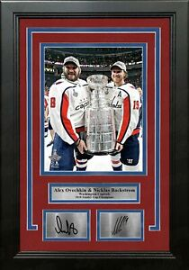 Alex Ovechkin Nicklas Backstrom Capitals Stanley Cup Photo Engraved Autograph