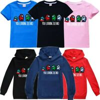 Among Us Gaming Kids T-Shirt Hoodie Impostor Funny Cool Hooded Sweatshirt Gift