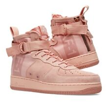 Nike SF Air Force 1 Mid Suede UK 10.5 EU45.5 Coral Red Stardust RRP£140.00