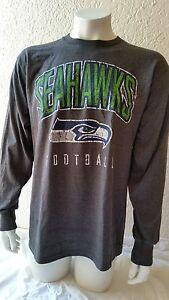 NFL Football Shirt Seattle Seahawks Long Sleeve Ls Vintage Style 6