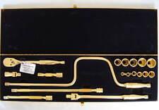 "GOLD Snap-On 18 Piece 3/8"" Drive  6 Point General Service Socket Set KRA-284B"