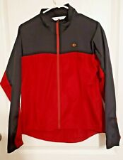 Pearl Izumi Cycling Red Windbreaker Packable Jacket Ladies Size Large EUC