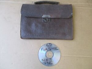 SMALL VINTAGE LEATHER DOCUMENT CASE.  FREE  DELIVERY