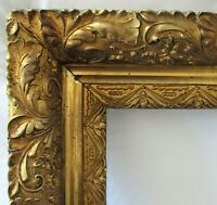 "BIG FITS 22.25"" X 36.25""  GOLD GILT ORNATE WOOD PICTURE FRAME FINE ART VICTORIAN"