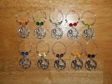 WOLF Native American Wine Glass Charms Marker set of 10