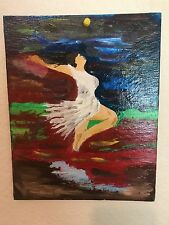 Angel, Oil on Wood Painting, by Iraqi Painter (Younis)