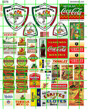 5076 DAVE'S DECALS MEXICAN RESTAURANT BEER LIQUOR SIGNS CANTINA COLA FOOD SET