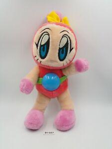 "Bomberman B1507 Pink Hudson NO TUSHTAG Plush 9.5"" Stuffed Toy Doll Japan"