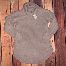 Maternity Sweater Sz M Motherhood NWT Oatmeal Color Cowl Neck (O)
