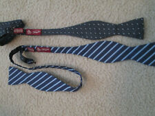 Men's Penquin 100% Silk Striped & Dot Adjustable Bow Ties NWOT, 2 tie lot