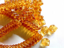71 AMBER INTERLOCKING SNAKE GLASS BEADS 9mm DESIGNER COUTURE #022813a last lot!