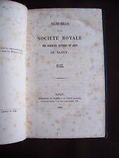 Société des sciences de Nancy 1845