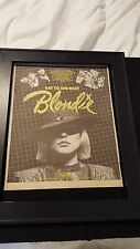 Blondie Eat To The Beat Rare Original Promo Poster Ad Framed!
