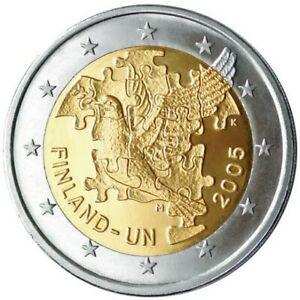 Pièce commemorative 2 euros Finlande 2005 UNC - Anniversaires de l'ONU