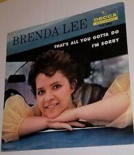 Brenda Lee Decca 9-31093 THAT'S ALL YOU GOTTA DO / I'M SORRY 45 NM
