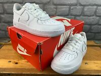 NIKE CHILDRENS UK 2 EU 34 AIR FORCE 1 SAGE LOW TRIPLE WHITE TRAINERS RRP £55 M
