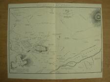 Antico 1880 Stampa Vittoriana-piano dell' Antichità di Atene