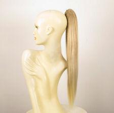 Postiche queue de cheval femme blond méché blond très clair lisse 70cm 7/15t613