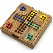 Wooden Ludo Pin Board Game Brain Teaser Puzzle