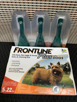 Frontline Plus for Small Dogs Puppies (5-22 pounds) Flea Tick Treatment -3 Doses