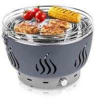 B-WARE - Holzkohlegrill grau mit aktiver Belüftung Fettauffangschale Grill