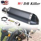 38-51mm Universal Motorcycle ATV Slip-on Exhaust Muffler Pipe DB Killer Silencer