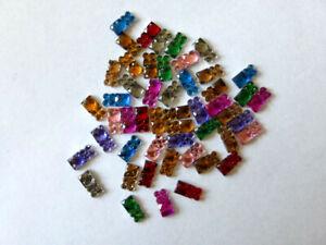 50 Glitzersteine  Rhinestones ca:10 x 5 mm Farbmix Basteln Kartengestaltung