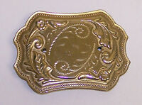 GOLDTONE BELT BUCKLE ADD YOUR OWN MEDALLION OR STONE