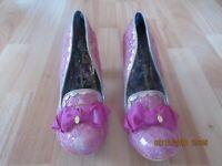 Irregular Choice Pink Kanjanka Size 41 New