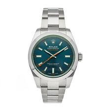 Rolex Milgauss Z-Blue Auto 40mm Steel Mens Oyster Bracelet Watch 116400GV
