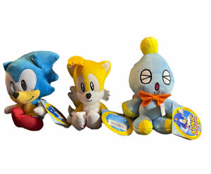 Sonic the Hedgehog Plush Lot Sonic Cheese Tails All New With Tags 3 Total