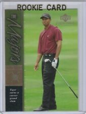 TIGER WOODS ROOKIE CARD Upper Deck MASTERS RC Golf Premier Edition 2001 LE!
