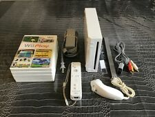 Nintendo Wii White Console (NTSC) with 5 Games and more...""