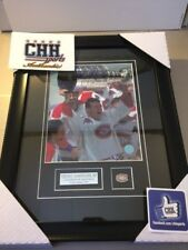 Montreal CANADIENS Vincent Damphousse 1993 Stanley Cup signed Frame Cadre  AUTO