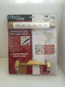 ritelite Wireless LED Picture Light Battery Operated Frame Lamp w/ Mount 2009