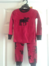 """NEW """"Classic Red Moose"""" kids/children's pajamas Lazy One, Red & Black Size 2T"""