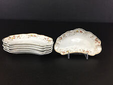 6 Antique Brownfields, semi-porcelain bone dishes, New Melrose #190816 1890's